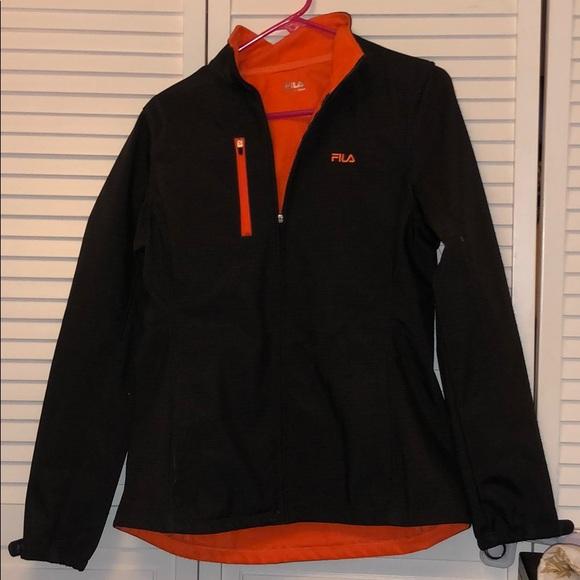 File Jacket Black Gray Orange Small
